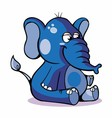 Very Cute Baby Elephant Sitting vector image vector image