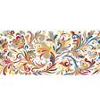 vintage floral baroque seamless border vector image