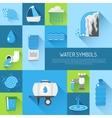 Water flat set vector image vector image