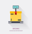 weighing warehouse icons logistic blank vector image
