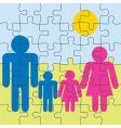 family puzzle vector image