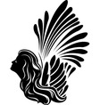 Winged muse symbol vector image