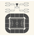 soccer stadium chart for groups and teams vector image
