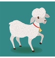 Cute lamb with bell vector image