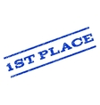 1st Place Watermark Stamp vector image