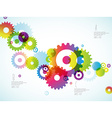 Abstract colorful toothed wheels background for vector image vector image