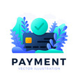 accepted payment credit card stock isolated on a vector image vector image