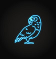 african grey parrot icon in glowing neon style vector image vector image