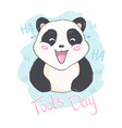 april fools day message with cute panda vector image