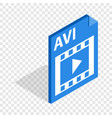 avi file extension isometric icon vector image
