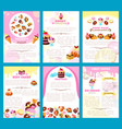 Bakery sweet desserts brochure or posters