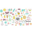 big summer set hand drawn elements for season vector image vector image