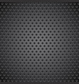 black metal perforated background vector image