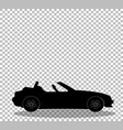 black silhouette of modern opened cartoon vector image vector image