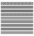 border decoration seamless patterns set on white vector image vector image