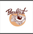 breakfast menu traditional vector image vector image