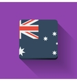 Button with flag of Australia vector image vector image