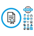 Certified Flat Icon with Bonus vector image