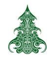 Christmas Tree Decorative vector image vector image