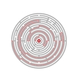 Circular labyrinth abstract logic puzzle path to vector image vector image