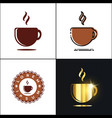 coffee cup logo with four styles vector image vector image