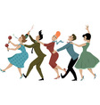 Conga line vector image vector image