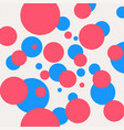 decorative pattern with blue and pink circles vector image vector image
