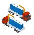 Delivery or shipping bio toilet cabins Blue bio vector image vector image