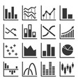 diagram and graphs related icons set vector image