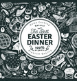 easter dinner banner template hand drawn vector image vector image