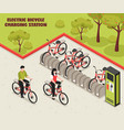 electric bicycle charging station vector image
