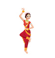Ethnic dance of cartoon indian girl vector image vector image