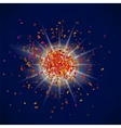Explosion on Blue Background Star Dust vector image vector image