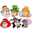 fairy tale portraits collection vector image