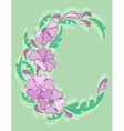 Frame from abstract flowers vector image vector image