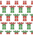 Gift boxes packaging Seamless pattern of boxes vector image vector image