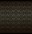 golden seamless pattern with ovals and lines vector image vector image