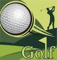 golf poster competition image vector image