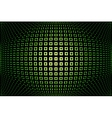green glowing techno background vector image vector image
