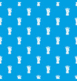hand showing number four pattern seamless blue vector image vector image