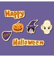 happy halloween elements set vector image