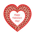heart rubies card vector image vector image