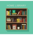 Home library vector image vector image