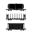 Hopper car open wagon tank car vector image