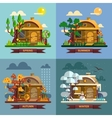 House in different times of the year Four seasons vector image vector image
