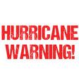 hurricane warning cyclone weather alert typo vector image vector image