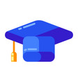 icon graduate cap in flat style vector image