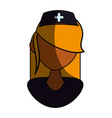 isolated women doctor face vector image