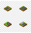 isometric way set of down unfinished way and vector image vector image