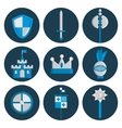 Knights flat icons set vector image vector image